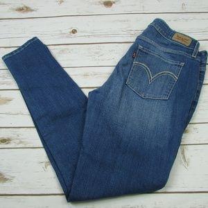 Levis Blue Denim Leggings Skinny Jeans 13 M 31x30
